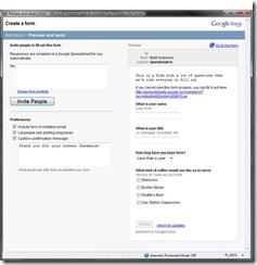 Google Form Invite